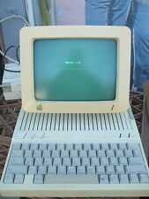 Vintage Apple IIc Computer System With Monitor Works Mostly