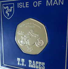2011 Isle of Man Tourist Trophy Motorcycle Race TT Races 50p Coin Gift Display