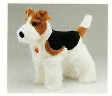 "STEIFF ""FOX TERRIER"" EAN 078538 STANDING PLUSH  FOX TERRIER WITH RED COLLAR 26CM"