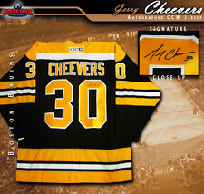 GERRY CHEEVERS Boston Bruins Signed Black CCM Vintage Jersey