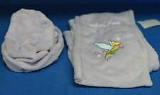 Tinker Bell Purple SCARF & HAT SET Ladies Embroidered Fleece Disney Store Womens