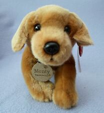 KEEL 25cm SOFT MONTY THE GOLDEN LABRADOR DOG TOY - PUPPY CUTE ANIMAL - NEW GIFT