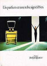PUBLICITE  1981   YVES SAINT-LAURENT   parfum Y
