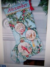 DIMENSIONS GOLD COLLECT. ENCHANTED ORNAMENTS CROSS STITCH CHRISTMAS STOCKING KIT