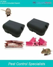 Rat x 2  box trap package, with block and grain poison bait. Proffesional grade