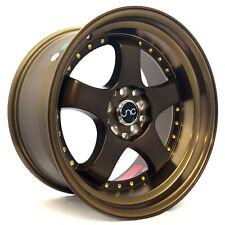 17x9 JNC 017 5x100/5x114.3 20 Matte Bronze. Wheel New set(4)