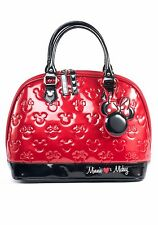 Disney Minnie Mouse Black Red Purse Handbag  Loungefly Bowler Bag Licensed