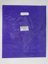 "100 Qty. 15"" x18"" x4"" Purple Glossy Low Density Merchandise Retail Shopping Bags"