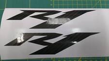 2x Yamaha YZF R1 Carbon Fibre Decal Sticker Motorcycle Vinyl Honda Suzuki