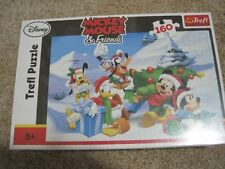 Trefl 160 piece Disney Mickey Mouse & Friends puzzle winter NEW Christmas