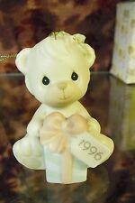 """Precious Moments-#531200 """"Wishing You A Bearie Christmas"""" Annual 1996 ORN-NEW"""