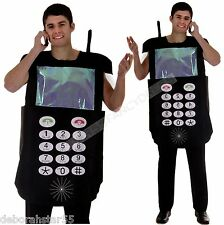 Adult 90s Retro Mobile Cell Phone Costume Fancy Dress Mens Womens O/S