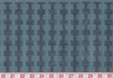 4 yds Blue Chenille Upholstery Fabric fr Italy Clarence House La Strada Chambray