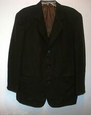 DONNA KARAM NEW YORK MADE IN ITALY  Men's Dress Blazer Black Size