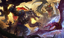Poster 42x25 cm League Of Legends Renekton Cho'gath Anivia Jurasica Jurassic LOL