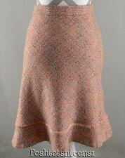 Gap Skirt 10 Career Pink Tweed Boucle Wool Blend Womens kfp1