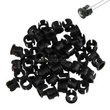 50pcs 5mm Black Plastic LED Clip Holder Case Cup Bezels Mounting Cases New