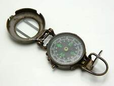 British Brass Military Pocket Compass Lensatic Antique finish.