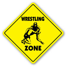 WRESTLING ZONE Sign novelty gift sport wrestler team coach award trophy uniform