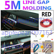 Edge Gap Red Line Interior Point Molding Accessory Garnish 5M for All Car Sedan