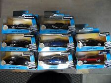 JADA TOYS 2015 1:32 FAST AND FURIOUS MIXED 8CT LOT CHARGER GTR Diecast Car
