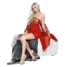 Women Sexy Lingerie Sleepwear Robe Kimono Red Costume Uniform Nightgown Negligee
