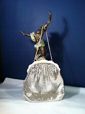 BEAUTIFUL VINTAGE EVENING BAG, SILVER MESH BY OROTON W. GERMANY EXCELLENT COND.