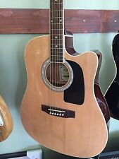 NEW ACOUSTIC-ELECTRIC ARIA AWN-15CE NATURAL FULL SIZE DREADNAUGHT GUITAR