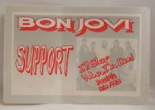 JON BON JOVI / RICHIE SAMBORA - OLD TOUR CONCERT CLOTH BACKSTAGE PASS *LAST ONE*