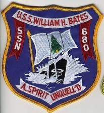 USS William H. Bates SSN 680 - Crest BC Patch Cat No C5430