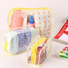 PVC Clear Plastic Pouch Travel Bathing Toiletry Zipper Cosmetic Bag