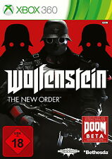Wolfenstein: The New Order (Microsoft Xbox 360, 2014, DVD-Box)