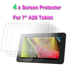 "4 X Screen Protectors for 7"" inch A20 Dual Core Google Android Tablet Jelly Bean"