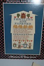 Cross Stitch Kit Homestead Designs Families Are Forever House Mat 1986