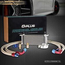 13 Row An10 Universal Engine Transmission Oil Cooler Kit+Filter Adapter Hose End