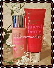 JUICED BERRY x 2 Victoria's Secret BEAUTY RUSH Lotion + 3 in 1 Shower Gel LOT