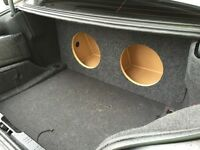 "ZEnclosures 2004-2010 BMW 5 Series 2-10"" SUB BOX Subwoofer Enclosure Speaker Box"