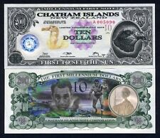 Chatham Islands, $10, 2001, Polymer / Tyvek, UNC