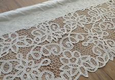 Victorian White Battenburg Lace Kitchen Cafe Window Curtain Valance