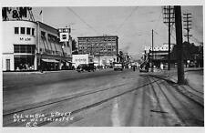 Photo. 1939-41. New Westminster, BC Canada. Columbia St