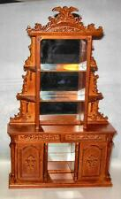 BESPAQ WALNUT ARMOIRE HIGHLY CARVED   DOLLHOUSE FURNITURE MINIATURES