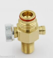 Taousa Brass CO2 Pin Valve On/Off for Paintball Tanks