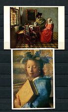 Jan Vermeer Van Delft - 2 Kunstpostkarten  (KK)