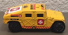 Vintage 1994 Yellow Matchbox Hummer / Rescue Humvee 1/70 Scale  Made In China