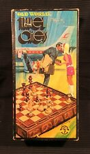 Vintage Old World Travel Chess Game ~ Folding Board ~ 1971
