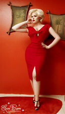 Pinup Girl Couture Clothing Dixiefried - Red Niagara Dress - M