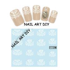 Nail art water sticker transfers-FRENCH-Adesivi con Pizzo per unghie con Fiori!