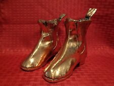 1872 Antique Victorian Child's Boots Shoes Copper Coated Albert Age 3 Engraved