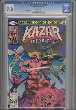 Ka-Zar, the Savage #3 CGC 9.6  1981  Marvel  Comic: Brent Anderson Kazar Cover
