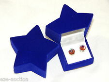 High Quality Blue Star Velvet Gift Box Ring Or Earrings Jewelry Gift Box